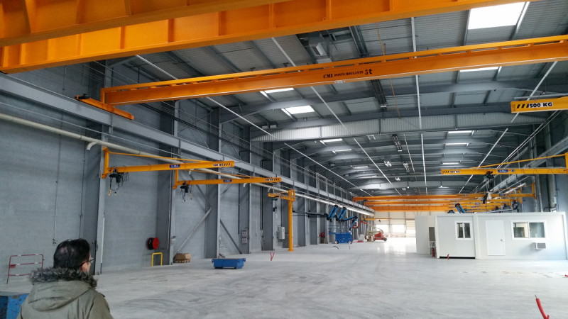 Installed Ladder Single Girder Crane